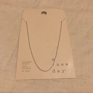 "NWT sterling silver 18"" a new day necklace #327"